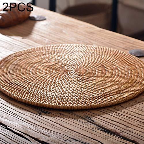 fire bird Uso polivalente Forma 2 PCS BD10 círculo Trenzado Kung Fu Taza de té Pot Mat, Robusto y, la Vida de Servicio Larga Durabilidad