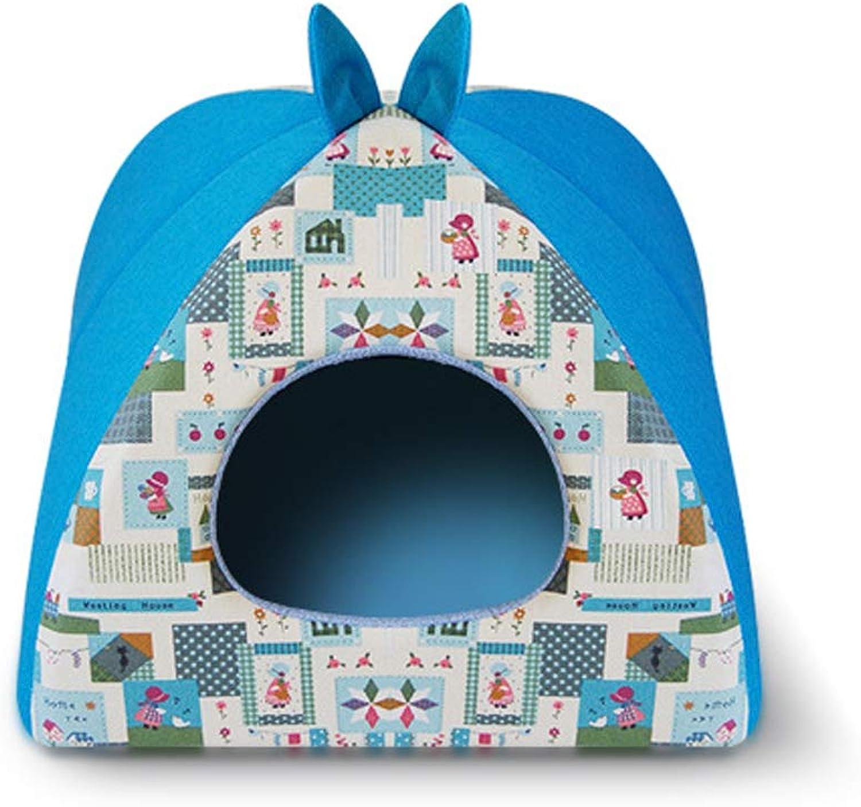 QJKai Pet Supplies Kennel Canvas yurt cat Litter pet nest
