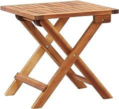 vidaXL Solid Acacia Wood Folding Garden Coffee Table Outdoor Tea Side Stand Patio Porch Backyard Terrace Balcony Furniture...