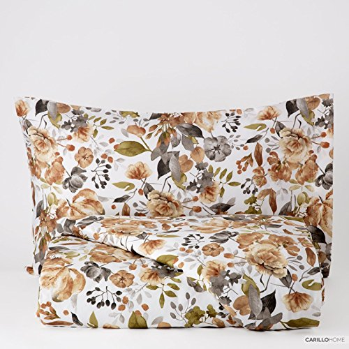 Lineaoro Diana Printed Duvet Cover Set - 2 Seater Taupe - COPDIA