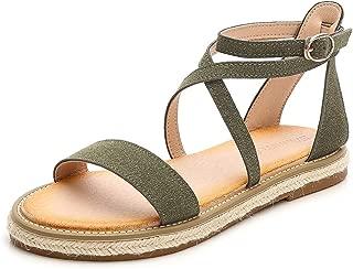 HPLY Women's Bohemian Flip Flops Summer Beach Thong Flat Shoes