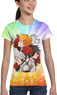 The Pro-Mised Never-Land Hope Emma & Norman & Ray Girls Fashion Top Short Sleeve Boys Tee Shirt