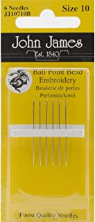 John James Bead Embroidery Hand Needles - Size 10 6 Per Package (Pack of 12)