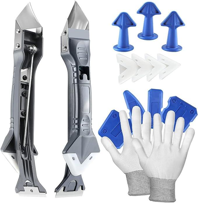 46 opinioni per Gmili silicone sigillante kit per calafataggio 5 in 1, (Stainless steelhead)