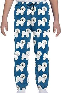 Pantalones de chándal para jóvenes Pantalones Deportivos Deportivos o de salón, Pantalones de chándal de Tela Azul Bichon ...