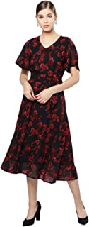 Harpa Women V Neck Printed Dress