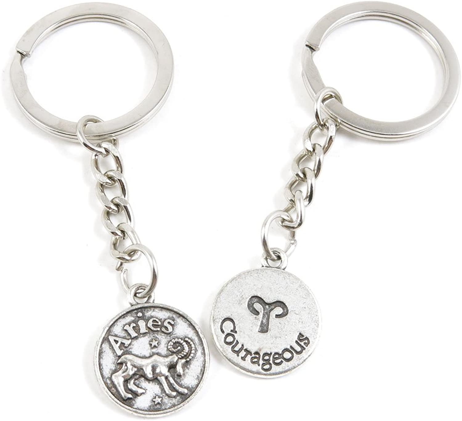 180 Pieces Fashion Jewelry Keyring Keychain Door Car Key Tag Ring Chain Supplier Supply Wholesale Bulk Lots T6XO6 Aries