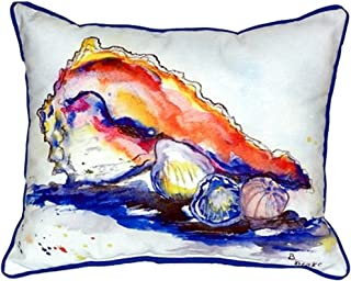 """Betsy Drake SN290 Betsy's Conch Pillow, 11"""" x14"""""""