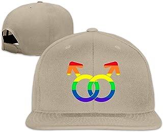 Baseball Cap Gay Love Sign Adjustable Custom Flat Peaked Hat Unisex