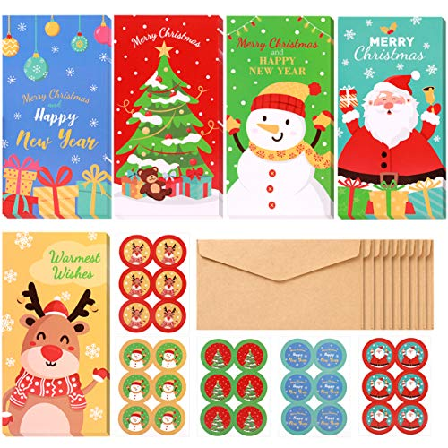 PRETYZOOM 30pcs Christmas Money Holder Gift Cards with Envelopes - Christmas Money Wallets Greeting Cards - Christmas Decoration Party Favors