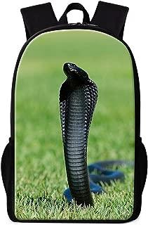Dispalang Cool Animal Backpack for Boys Crazy Snake School Bookbag Children Lightweight Back Pack