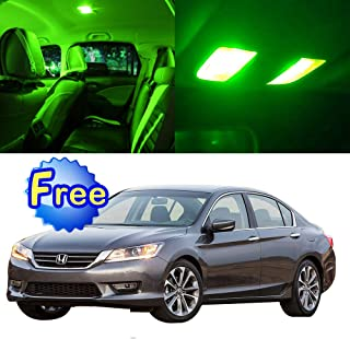 SCITOO LED Interior Lights 8pcs Green Package Kit Accessories Replacement for 2003-2012 Honda Accord Sedan Coupe