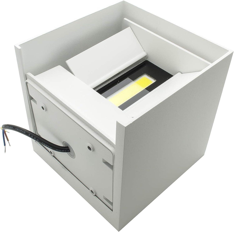 Wandleuchte Doppel-LED 40W Auenleuchte IP65 Winkel verstellbar 230V