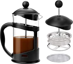 French Press Coffee Maker, VAlinks Glass Coffee Carafe Coffee Brewer with Stainless Steel Triple Filter, Rust-Free, Dishwasher Safe, 20oz (600ml)
