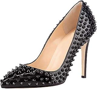 KOLNOO Handmade Womens Stiletto Dress Shoes Rivets Spikes Office Party High Heel Pumps Fashion BFCM Court Shoes