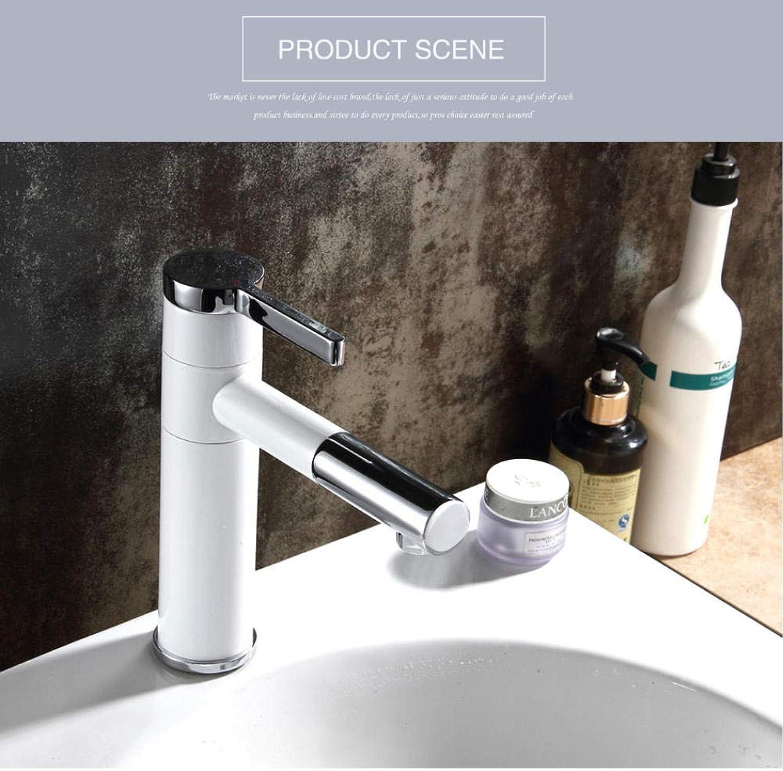 Arbeitsplatte Wei Malerei Messing Bad Becken Wasserhahn Waschbecken Mixer Waschtischarmatur Schwenkauslauf Deck montiert