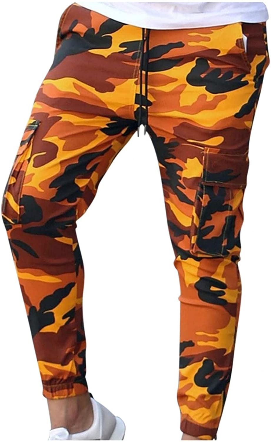 Beshion Sweatpants for Men Jogger Slim Cargo Pants Casual Camouflage Athletic Workout Running Pants Sport Trousers