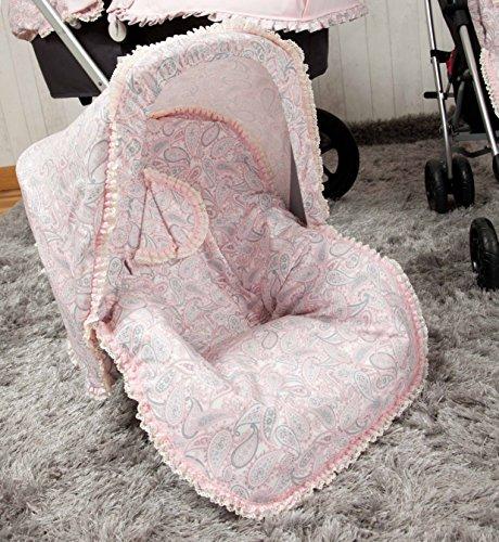 Babyline Caramelo - Colchoneta para silla grupo 0, color rosa