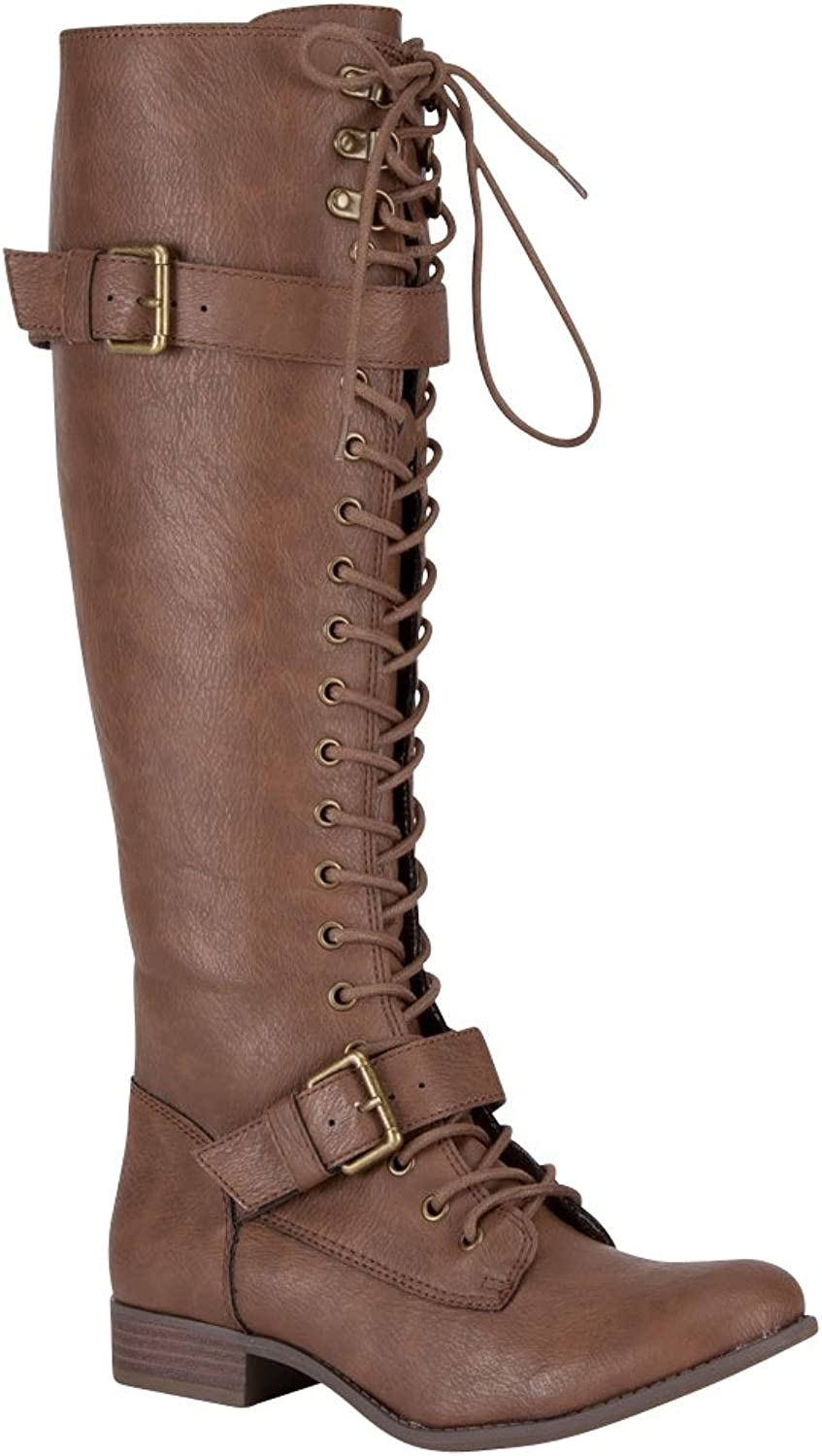 Rocket Dog Womens Beany Porter Buckles Dress Knee-High Boots