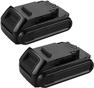 DCB205 20 Volt 2.5Ah Replacment for Dewalt 20V Battery XRP Lithium DCB200 DCB201 DCB202 DCB203 DCB204 DCB206 DCB207 2 Pack