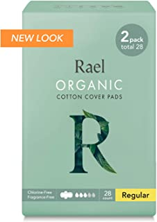 Rael Certified Organic Cotton Menstrual Regular Pads, Ultra Thin Natural Sanitary Napkins..