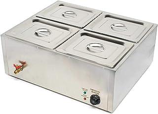 OUBAYLEW Chauffe-Plat Chauffe-Plats Électrique Maintien de la Température Capacité 4 Chauffe-Buffet Chafing Dish