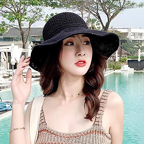 NPYANYAN Grass hoed vrouwelijke zonnecrème leeg top vizier strand veelzijdig anti-UV-afdekking gezicht zonnehoed