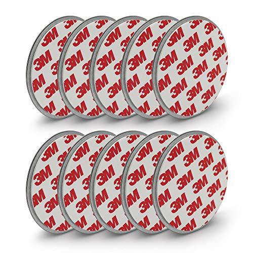 Rauchmelder Magnethalter mit 70mm Ø - 10er Set - 3M Klebepads mit Magnethalterung zur einfachen Befestigung ohne Bohren und Schrauben - Selbstklebend für alle gängigen Rauchmelder