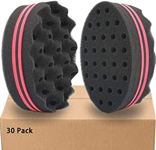 HALLO Hair Twist Black Ice Sponge For Afro Braid Afro Locs Twist Curl Coil Super Nice (30 Packs)