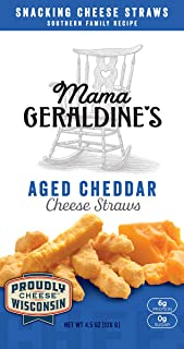 Geraldine's Cheese Straws, Aged Cheddar, 4.5-Ounce (Pack of 6)
