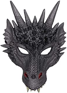 Halloween Mask Props, Masquerade Mask,Dragon Mask Half Face Mask for Halloween Costume Party Cosplay Party