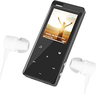 $39 » MP3/MP4 Player with Backlit Touch-Button and Bluetooth4.2, Hi-Fi Music Player with Speaker and FM Radio, Portable Video Pl...