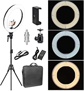 Zomei 12-inch Inner/14-inch Outer LED Ring Light 36W 5500K Lighting Kit with Tripod Stand Ball Head and Phone Adapter for Camera Smartphone YouTube Video Shooting
