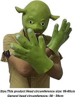 Mltao Halloween Head mask Cosplay Props for Shrek aduit mask