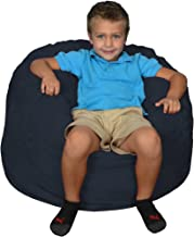 كرسي بين باج من الإسفنج الذكي من كومفي ساكس Microsuede, Navy