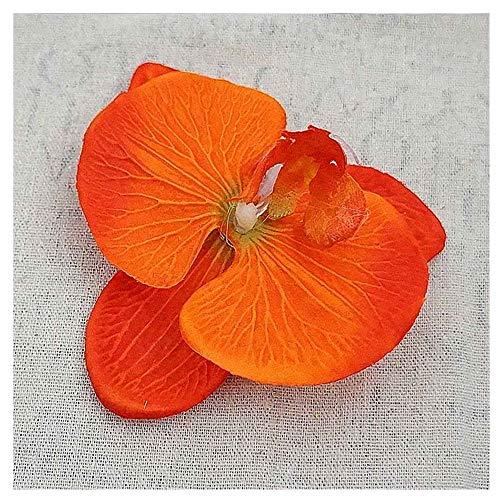 KAERMA 100pcs 11CM Silk Schmetterlings-Orchideen-Heads for Home Hochzeit Decora Scrapbooking Fertigkeit DIY Hut Schuhe Günstige Künstliche Blumen Aufkleber Zubehör (Size : M)
