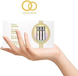 FLEURS Aceite de perfume para mujer 5 ml de roller en miniatura - La mejor idea de regalo de boda (GIFT SET)