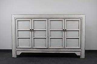 AsienLifeStyle - Aparador chino (madera de ulmeno 150 cm) color blanco