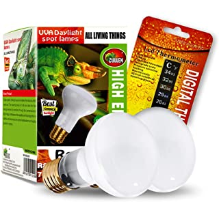 CULLEN 2-Pack Reptile Heat Lamp Bulb/Light, UVA Basking Spot Heat Lamp for..