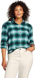 Lands' End Women's Plus Size Flannel Shirt