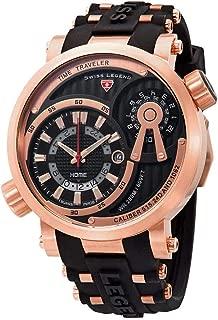 Swiss Legend Time Traveler Quartz Black Dial Men's Watch SL-13841SM-RG-01
