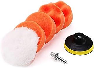 7PCS 5in Car Foam Polishing Pads Kit Drill Buffing Sponge Pads for Car Buffing Polishing Sanding Waxing