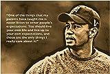 Golf toller Zitat Tiger Woods Foto Poster Inspirierende