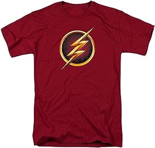The Flash TV Series Logo Maroon T Shirt