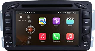 Android 9.0 Car Stereo DVD Player 7 in Dash Autoradio 2 Din Head Unit RAM 2G GPS Navigation with DVD Player for Mercedes-Benz C-W209/ C-W203/ Viano/Vito/Vaneo/A-Class (with SWC Buttons)