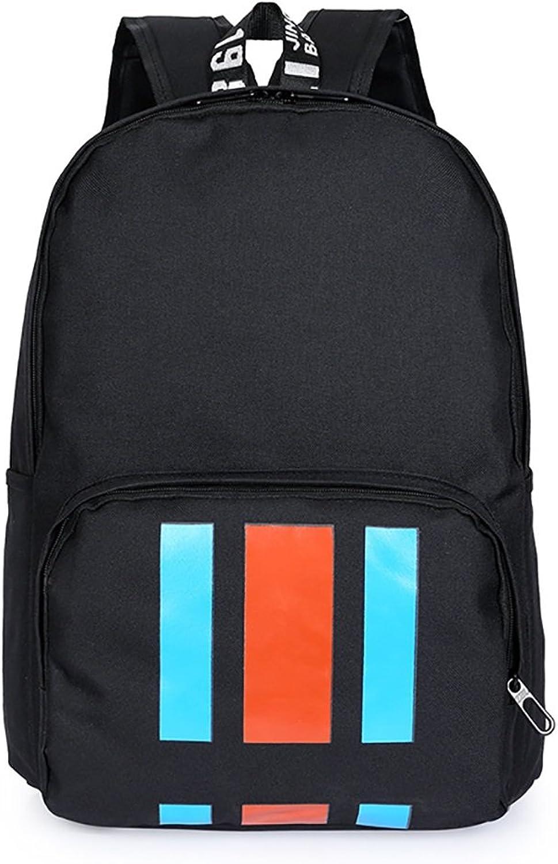 Nylon Backpack Student Bag Campus Rucksack Zipper Schoolbag Outdoor Travel
