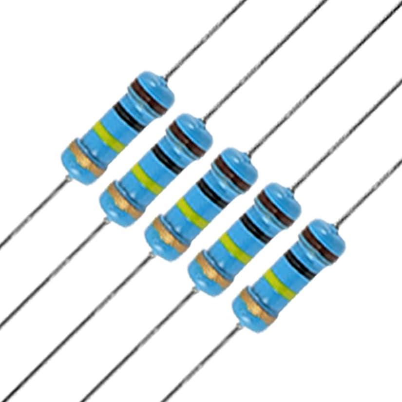入る汚染する記念碑的なuxcell カーボン抵抗 炭素皮膜抵抗器 アキシャルリードタイプ 1/2W 100K ohm 20本入り