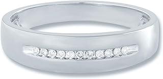 10K Gold 1/10 cttw Diamond (IJ Colour I3 Clarity) Mens Ring