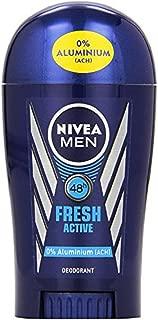 3x Nivea Fresh Active Deodorant Stick 0% Aluminium for Men ( Pack of 3)