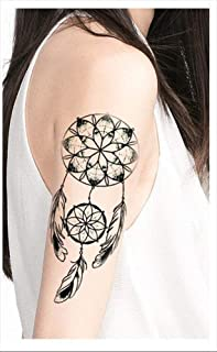 Tatuajes temporales atrapasueños rosetones plumas para hombre y ...
